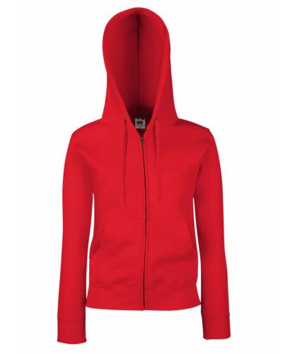 Lady-Fit Fruit Of The Loom Premium Hooded Sweat-Zip Jacket-Womens zipped Hoodie