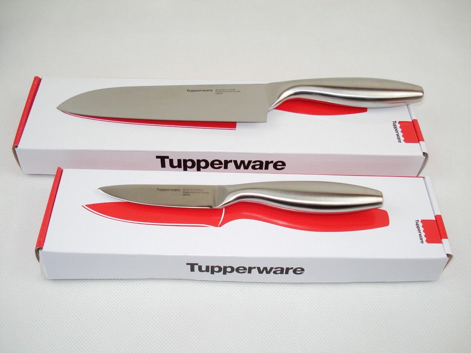 Tupperware Santoku Couteau Set asiatique PROFESSIONNEL-COUTEAU éPLUCHEUR & Solingen