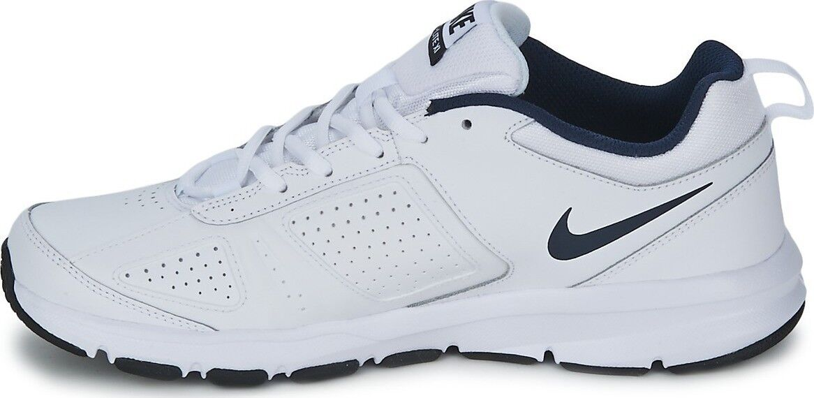 Nike Hommes Trainer Lite XI T-Lite Leather Leather Leather Gym Cross Trainer Running blanc & Navy ba51ac