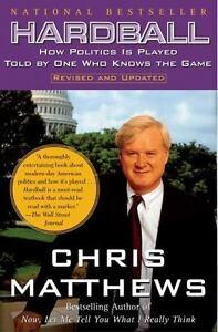 HARDBALL-by-Chris-Matthews-FREE-SHIPPING-paperback-book-politics-hard-ball-MSNBC