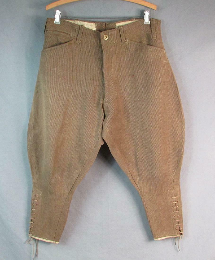 Vintage 1910s Wool Whipcord Riding Pants WWI Mili… - image 1