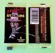 A Nightmare on Elm Street Movie Freddy Krueger sealed unopened sticker pack 1984