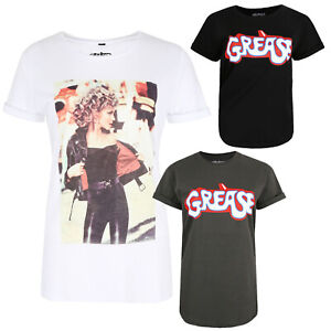 Grease-Logo-Movie-Official-Ladies-T-shirt-Sizes-S-XL