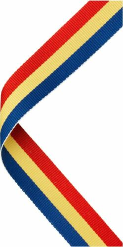MEDAL RIBBON RED//YELLOW//BLUE 30 X 0.875in