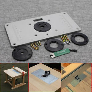 235 x 120 x 8mm aluminum router table insert plate insert ring image is loading 235 x 120 x 8mm aluminum router table greentooth Choice Image