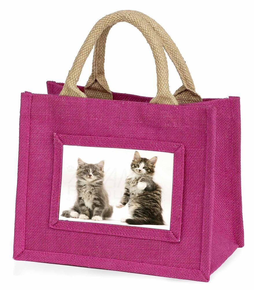 Marque De Tendance Tabby Cats Little Girls Small Pink Shopping Bag Christmas Gift, Ac-162bmp Utilisation Durable