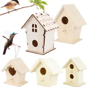 Wooden Bird House Nest Dox Nest House Bird Box Wooden Birdhouse Home Garden