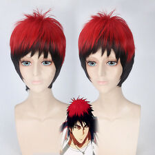 Kuroko's Basketball Kagami Taiga Black red Mix Cosplay Anime party Hair Wig Z95