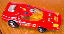 Matchbox Speed KIngs Shovelnose rare Fire Chief version