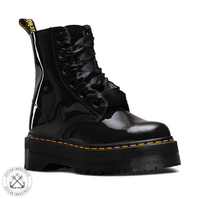 DR MARTENS MOLLY PATENT BOOTS - doc, dm, rock, boho, grunge, punk, black