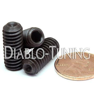"Socket SET // GRUB SCREWS Cup Point Qty 10 Black Alloy Steel #5-40 x 1//4/"""