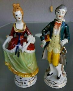 Pair 7 5 Occupied Japan Moriyama Victorian Figurines Couple Ebay