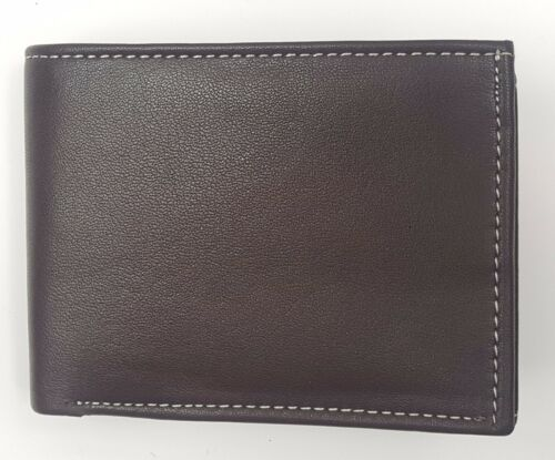 MENS LUXURY ORIGINAL QUALITY LEATHER WALLET CREDIT CARD HOLDER PURSE WA108