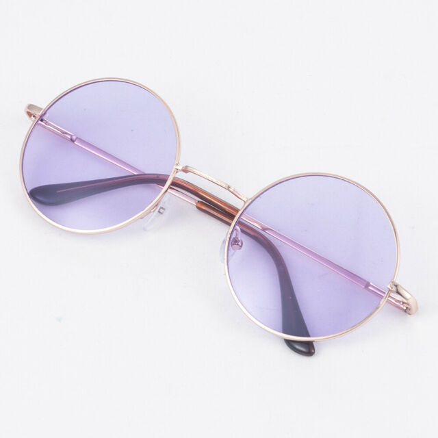 Hippie Style Colorful Circle Round Sunglasses Vintage Creative Glasses Eyewear