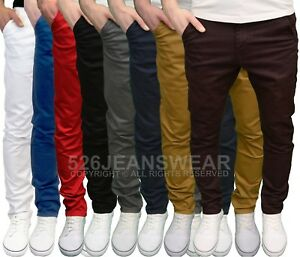 Enzo-Mens-Designer-Branded-Slim-Fit-Stretch-Chino-Jeans-Available-in-8-Colours