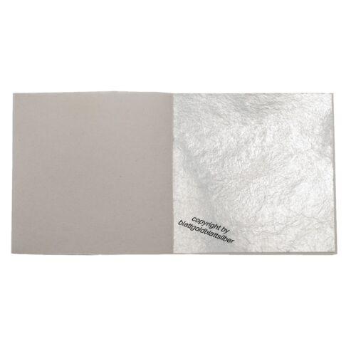 10 Blatt Echtes Blattsilber 5cm x 5cm Echt Silber zum Versilbern