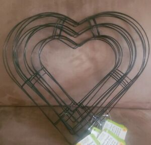 "Heart-Shaped Wire Frame for Wreath 12/"" by Floral Garden"