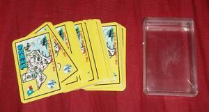 Vintage-Miniature-TEXAS-LONE-STAR-STATE-Souvenir-Playing-Cards-COMPLETE-DECK-HTF
