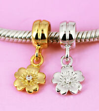 925 Sterling Silver Rose Gold Vermeil Style 2 Starfish Charms 12mm.