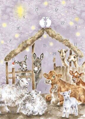 Wrendale Designs Woodland Nativité traditionnelle A5 de Noël de l/'Avent Calendrier