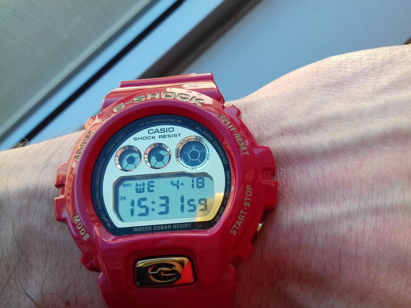 Details zu Casio G Shock DW 6930A 4ER 30th Anniversary Rising Rot Limited Edition NOS Uhren
