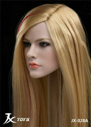 """1//6 JXTOY JX-028A Avril Singer Pale Head Sculpt Model F 12/"""" PHicen Female Figure"""