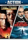 Hunt for Red October Sum of All Fears 0097361435640 DVD Region 1