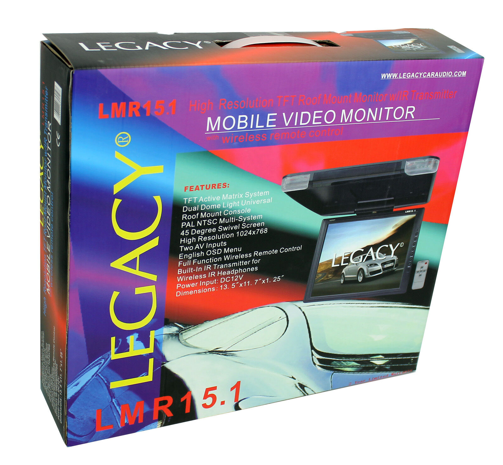 NEW Legacy Roof mount monitor 15in LMR15.1