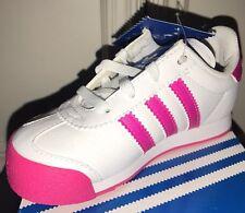 New Adidas Samoa I White Pink Gold Toddler Baby Girl Size 8K