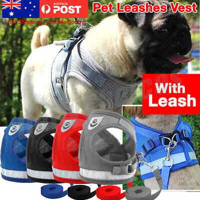 Pet Dog Harness Adjustable Support Control Vest Soft Padded Red//Black L