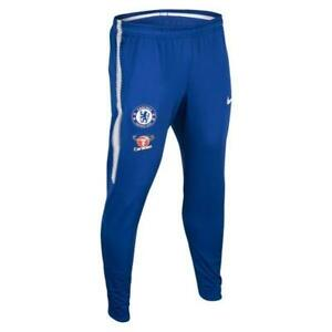 Détails sur Hommes Nike FC Chelsea 2018 2019 Bleu Pantalon Survêtement 905459 451 M
