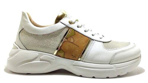 ALVIERO MARTINI 1 CLASSE Junior Geo scarpe sneakers donna pelle camoscio zeppa