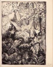 """Max Slevogt, Chor der Engel, Original Radierung zu """"Faust II"""", 1926"""