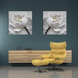 2pcs-Pintura-de-Arte-Cuadro-de-Flores-Decoracion-de-Pared-para-Hogar-Salon