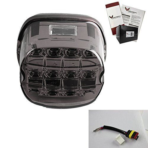 Eagle Lights Harley Layback Smoked LED Tail Light for Sportsers//Dyna//Touring