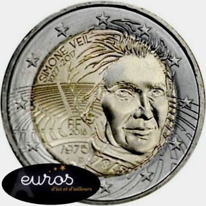 Piece-2-euros-commemorative-FRANCE-2018-Simone-Veil-UNC