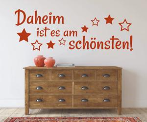 X4442-Wandtattoo-Spruch-Daheim-ist-am-schoensten-Sticker-Wandaufkleber-Aufkleber