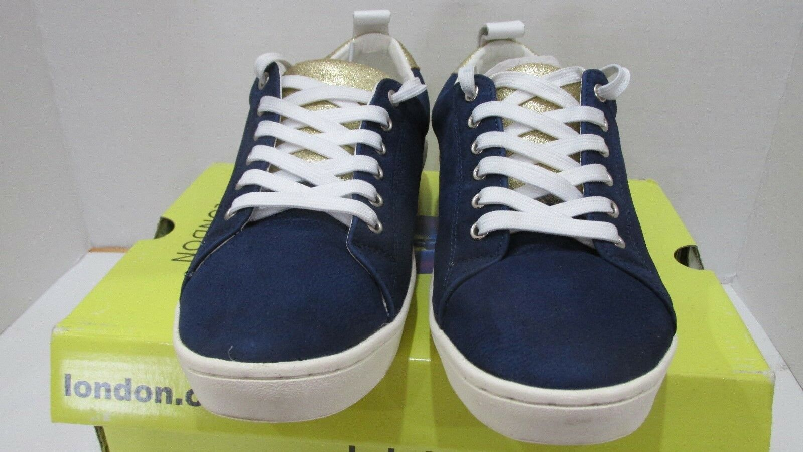 Fly London Leder 40 Lace Up Sneakers -Maco- Blau EU 40 Leder US 9-9.5 78bb25