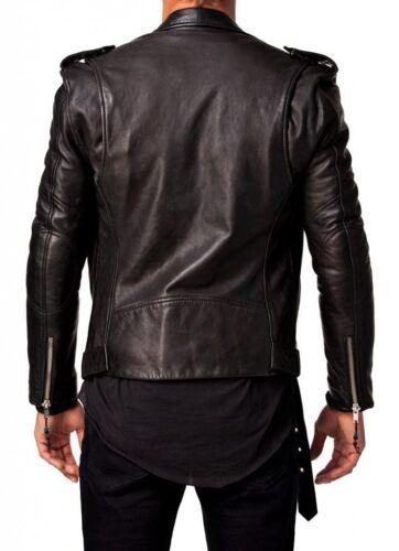 pelle in uomo da Black Giacca Fit Biker Fit SCRwqvxd5