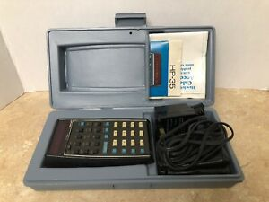Details about HP-35 CALCULATOR WITH CASE, LEATHER POUCH, AC AND MANUAL,  BEAUTIFUL PIECE!