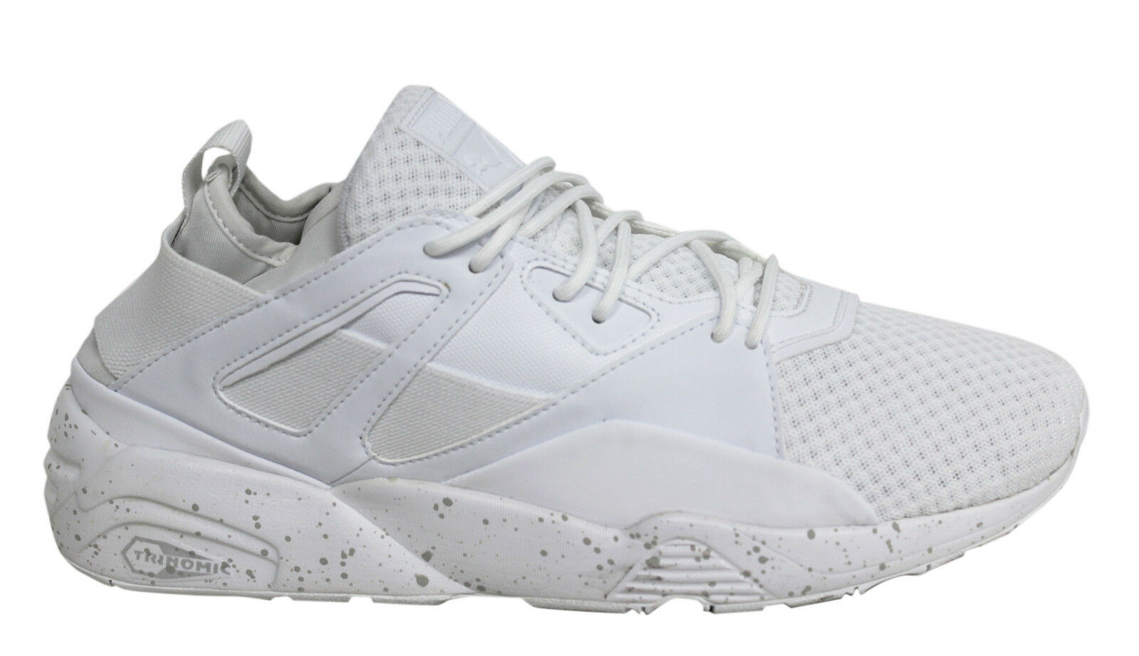 Puma Blaze Of Glory Sock Lace Up White Mens M13 Textile Trainers 362520 02 M13 Mens 3935a6