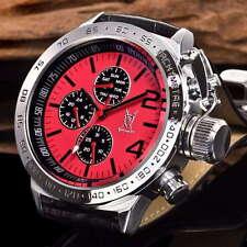 Königswerk Uhr Licinius, Multifunktion, rot/schwarz Lederarmband,neu, Konigswerk