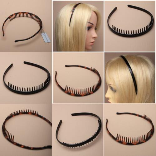 TOOTHED BLACK OR TORT PLASTIC ALICEBAND HAIR BAND