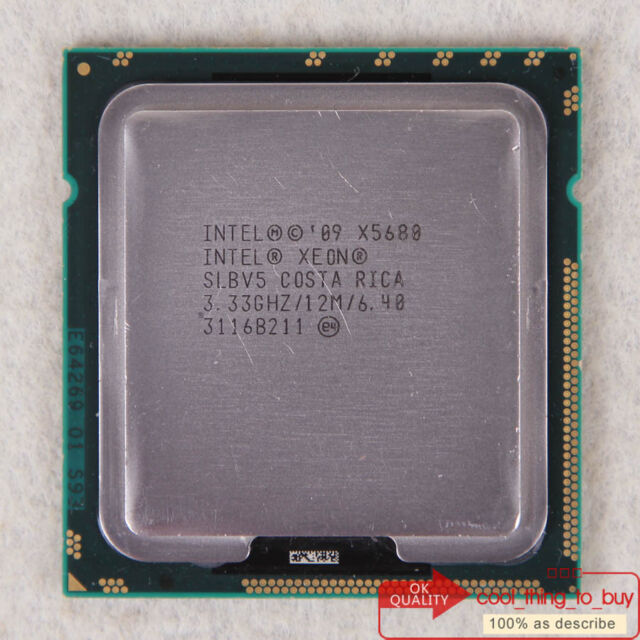 UK-Free shipping Intel 3.33 GHz 3200 MHz Xeon X5680 SLBV5 CPU Processor LGA 1366