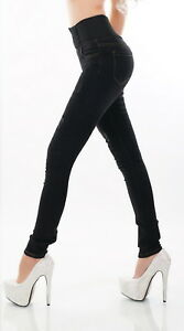Dames Kleding Xs.Women S High Waist Stretch Black Denim Skinny Jeans Dames Kleding