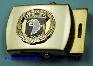 101st-Airborne-Wreath-Army-black-Web-Belt-amp-brass-buckle-847