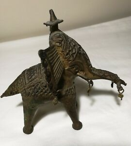 Antique-India-south-Asia-bronze-elephant-god-elephant