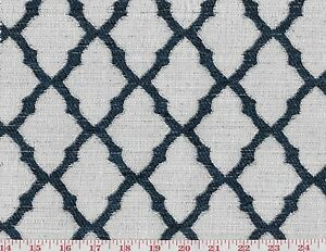 Blue White Lattice Upholstery Fabric By Golding Fabrics