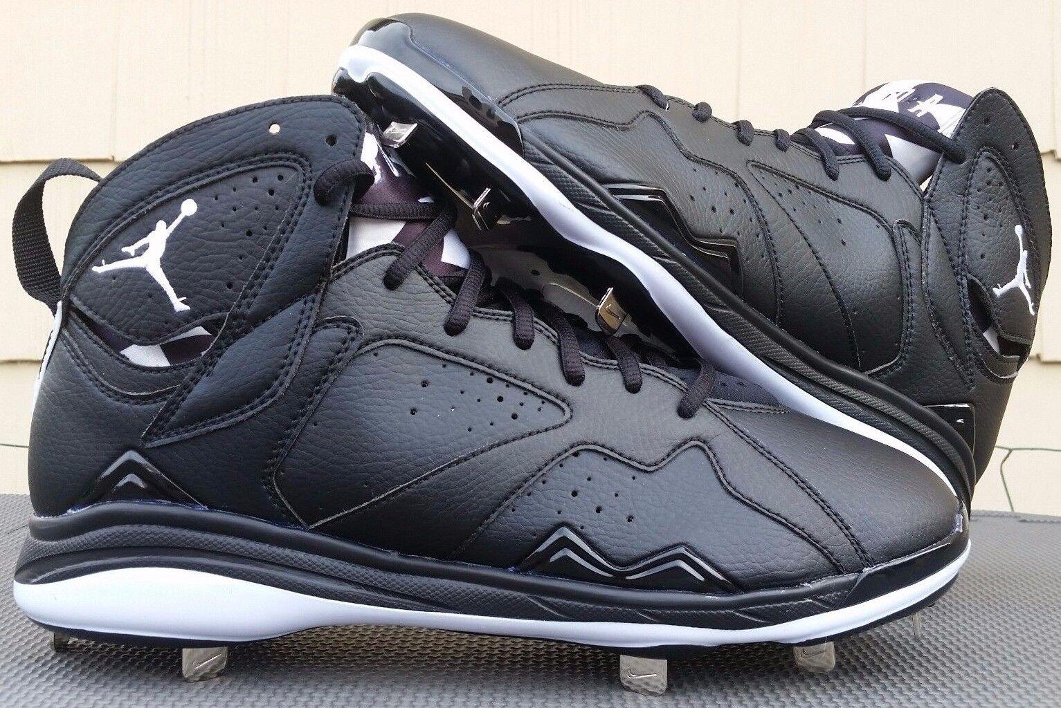2014 Air Jordan VII 7 Metal baseball baseball baseball cleats men sz 12 schwarz Weiß 684943-010 NEW f445e2