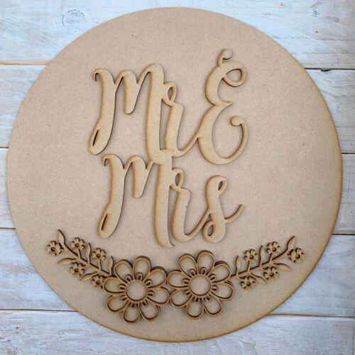MDF Layered Circle Craft Kit Wall Decor Wedding Flower Wall Hoop Name Hoop